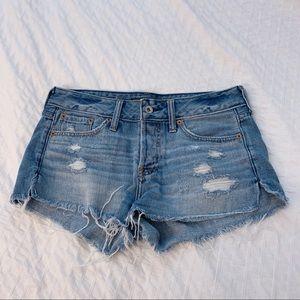 Abercrombie Low-Waist Denim Shorts